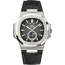 Patek Philippe 5726A-001 Stainless Steel with Black Dial 40.5mm Mens Watch