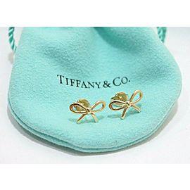 Tiffany & Co. 18K Yellow Gold Bow Ribbon Stud Earrings