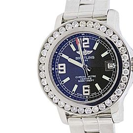 Breitling Colt Stainless Steel & 4ct Diamonds Womens Watch