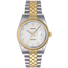 Rolex Datejust 16233 Stainless Steel & Yellow Gold White Roman Dial 36mm Mens Watch
