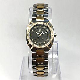 OMEGA SEMASTER POLARIS 2 Tone 23mm Ladies Watch ~0.5TCW Diamonds