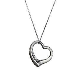 Tiffany & Co. ELSA PERETTI Open Heart Pendant with Silk cord&Chain set