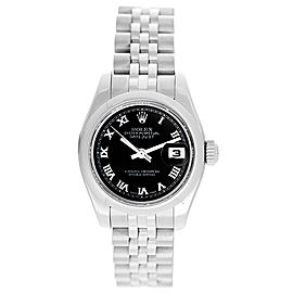 Rolex Datejust 179160 Stainless Steel with Black Roman Dial 26mm Womens Watch