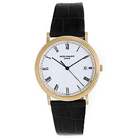Patek Philippe Calatrava 3944 J 18K Yellow Gold Calatrava Quartz 33mm Mens Watch