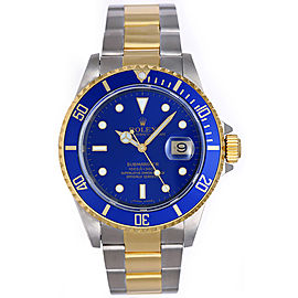 Rolex Submariner 16613 2-Tone Stainless Steel and 18K Yellow Gold 40mm Mens Diving Sports Watch