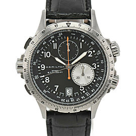 HAMILTON Khaki ETO chronograph black Dial Quartz Men's Watch