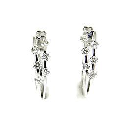 Roberto Coin Double Hoop Earrings 18K White Gold 0.84tcw Parisian Diamond