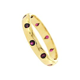 Tiffany & Co. 18K Yellow Gold with Ruby Etoile Band Ring Size 9