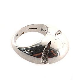 Bvlgari Dome Ring 18K White Gold with Diamonds