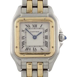 Cartier Panthere 1120 Two Tone Stainless Steel and 18K Yellow Gold Quartz 21mm Womens Watch