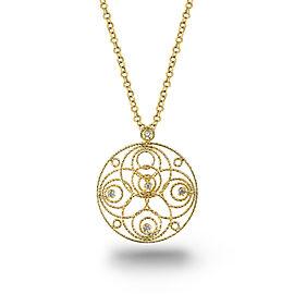 Roberto Coin 18k Yellow Gold Filigree 0.10ct. Diamond Necklace