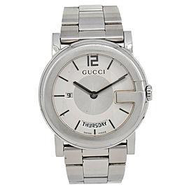 Gucci 101M YA101306 Day&Date Silver Dial Quartz Men's Watch