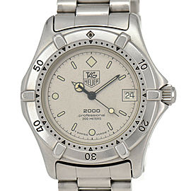 TAG HEUER 2000 962.213 Professional 200m Silver Dial Quartz Boy's Watch