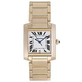 Cartier Tank Francaise W50001R2 18K Yellow Gold Automatic 28mm Mens Watch
