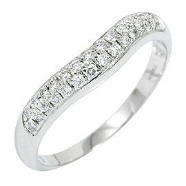 BVLGARI Platinum Diamond Corona V Band Ring CHAT-866