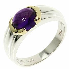 TIFFANY & Co. Silver 18K Yellow Gold Amethyst Ring