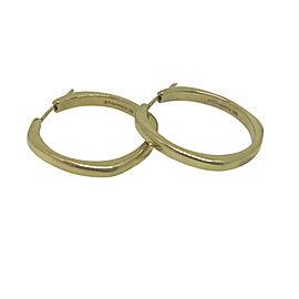 Tiffany & Co. Classic 18K Yellow Gold Hoop Earrings