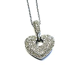 14K Solid White Gold Necklace SI Diamonds 6.33g