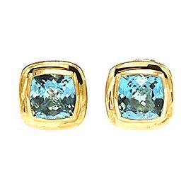 David Yurman Albion Stud Blue Topaz Earrings