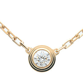Cartier 1P Diamond Yellow Gold Diamants Légers Necklace