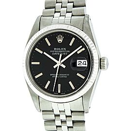 Rolex 16014 Datejust Stainless Steel and White Gold 36mm Watch