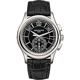 Patek Philippe Complications 5905P-010 Black Dial Perpetual Calendar Platinum 42mm Mens Watch