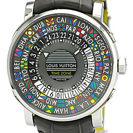 Polished LOUIS VUITTON Escale Time Zone Steel Automatic Watch Q5D20