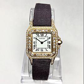 CARTIER SANTOS 24mm 18K Yellow Gold 1.06TCW DIAMOND Watch