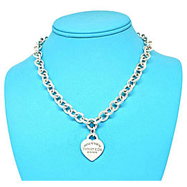 Tiffany & Co. Please Return To Tiffany Sterling Silver Heart Tag Necklace