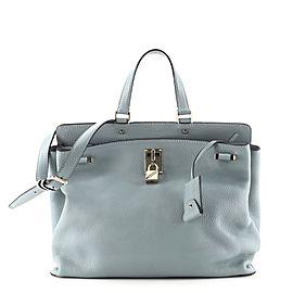 Valentino Joy Lock Top Handle Bag Leather Large