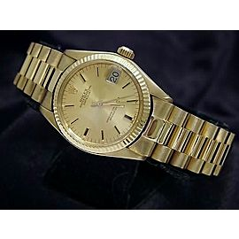 Mid Size Rolex 18K Yellow Gold Datejust President Champagne 6827
