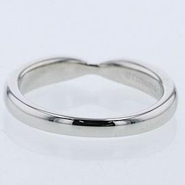 TIFFANY & Co.950Platinum Harmony wedding band Ring EU:44 TBRK-203
