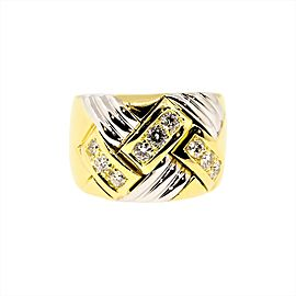 Chopard 18K Yellow and White Gold Diamond Ring