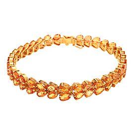 Beautiful 14K Yellow Gold Citrine Bracelet