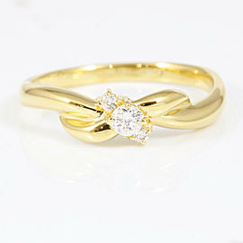 Vendome Aoyama 18K Yellow Gold Diamond Ring CHAT-224