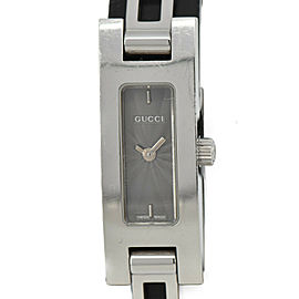 GUCCI 3900L Gray Dial SS Quartz Ladies Watch #HK-321