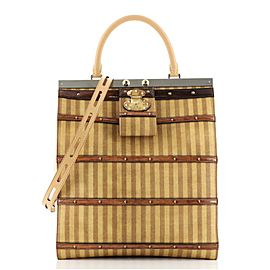 Louis Vuitton Crown Frame Tote Limited Edition Time Trunk Canvas GM