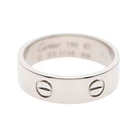 Cartier Love 18K White Gold Ring Size 8