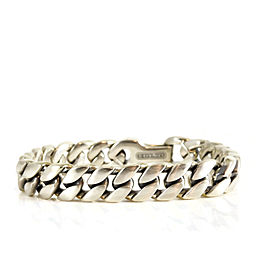 "David Yurman Sterling Silver 7.5"" 11.5mm Curb Link Bracelet"