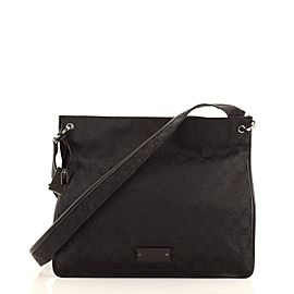Gucci Vintage Flat Messenger Bag GG Canvas Medium
