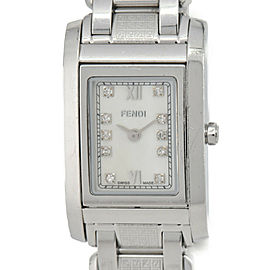 FENDI 7600L 10P Diamond White shell Dial Quartz Women's Watch
