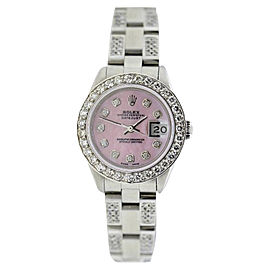 Rolex Datejust Stainless Steel & 4ct Diamond 26mm Watch