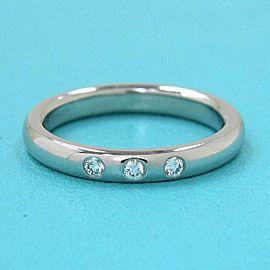 TIFFANY & CO 950 platinum Diamond 3P Stacking Band Ring