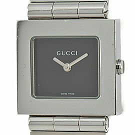 Gucci 600J Black Dial Stainless Steel Quartz Unisex Watch