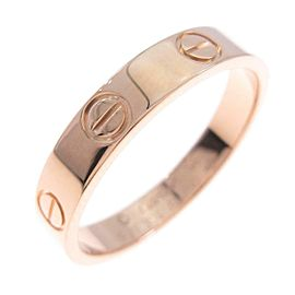 Cartier 18K Pink Gold Mini Love ring TkM-115