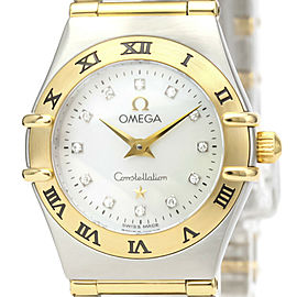 OMEGA Constellation Stainless steel,18K Yellow Gold Diamond MOP Dial Watch