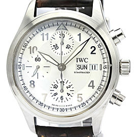 Polished IWC Stainless steel Spitfire Chronograph Watch HK-2119