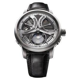 Maurice Lacroix Masterpiece Lune Retrograde Stainless Steel & Leather 46mm Mens Watch