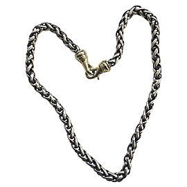 David Yurman Sterling Silver 14K Yellow Gold Necklace