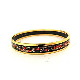 Hermes Gold Tone Hardware & Enamel Cloissone Bracelet